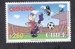 Sellos del Mundo : America : Chile : Cómic: Condorito futbolista