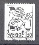 Stamps Sweden -  Cómic: Adamson