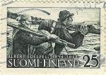Stamps Finland -  Centenario del nacimiento del pintor Alberto Edelflt - Pescadores