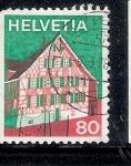 Sellos de Europa - Suiza -  Arquitectura típica