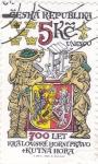Stamps Czech Republic -  UNESCO- EXTRACCIÓN DE MINERAL EN KUTNA HORA