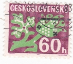 Stamps Czechoslovakia -  ILUSTRACIÓN FLOR