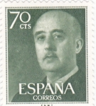 Stamps : Europe : Spain :  General Franco (10)