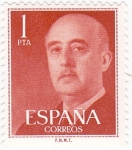 Stamps : Europe : Spain :  General Franco (10) venta
