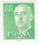 Sellos de Europa - España -  General Franco (10)
