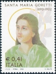 Stamps Italy -  2502 - St. Maria Goretti