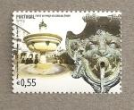 Sellos de Europa - Portugal -  Fonte Plaza Giraldo, Evora