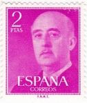 Stamps Spain -  General Franco (10)