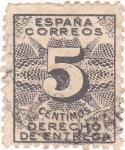 Sellos de Europa - España -  CIFRAS -Derecho de entrega (10)