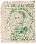Stamps Spain -  Joaquín Costa - político  (10)