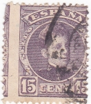 Stamps Spain -  Alfonso XIII- Tipo cadete  (10)