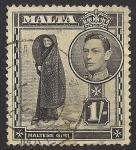 Sellos del Mundo : Europa : Malta : Maltese Girl.