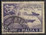 Sellos del Mundo : Europa : Malta : Mercurio y Símbolos de Comunicaciones