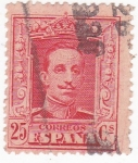 Stamps Spain -  Alfonso XIII- Tipo Vaquer  (10)