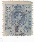 Stamps : Europe : Spain :  Alfonso XIII -Medallón (10)
