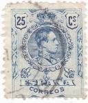 Sellos de Europa - España -  Alfonso XIII -Medallón (10)