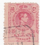 Stamps Spain -  Alfonso XIII -Medallón (10)