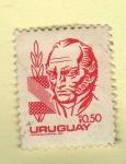 Sellos de America - Uruguay -  Scott 1075. Artigas.