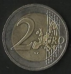 monedas de Europa - Alemania -  MONEDA DOS EUROS - FRONTAL