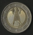 monedas de Europa - Alemania -  MONEDA DOS EUROS - POSTERIOR
