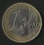 monedas de Europa - Alemania -  MONEDA UN EURO - FRONTAL