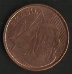 monedas de America - Brasil -  MONEDA BRASIL - TIRADENTES- POSTERIOR