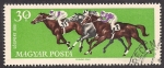 Stamps : Europe : Hungary :  CARRERA DE CABALLOS.