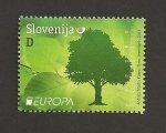 Stamps Slovenia -  Bosques europeos: Haya