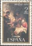 Sellos de Europa - España -  ADORACIÒN  DE  LOS  PASTORES.  PINTURA  DE  MURILLO.