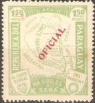 Stamps Paraguay -  MAPA  DEL  GRAN  CHACO