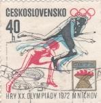 Sellos de Europa - Checoslovaquia -   XX Olimpiada de Munich-72