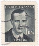Sellos de Europa - Checoslovaquia -  J. Sverma- político