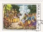 Stamps Poland -  Fiesta popular-ilustración