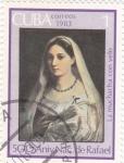 Sellos de America - Cuba -  La muchacha con velo- 500 Aniversario nacimiento de Rafael