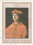 Stamps Cuba -  El cardenal- 500 Aniversario nacimiento de Rafael
