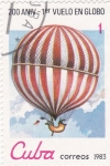 Sellos de America - Cuba -  200 Aniversario primer vuelo en globo