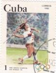 Sellos de America - Cuba -  Juegos Olímpicos Los Angeles-84