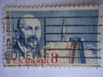 Stamps United States -  Robert H.Goddard 1882-1945 - U.S Air Mail