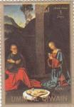Stamps United Arab Emirates -  Momento de la vida de Jesús de Nazaret- UMM AL QIWAIN