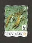 Sellos de Europa - Eslovenia -  Cangrejo de río