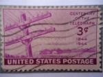 Stamps United States -  Centenary of the Telegraph 1844-1944 - Centenario del Telégrafo