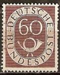 Sellos de Europa - Alemania -  Numeral y Corneta postal.