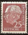 Sellos de Europa - Alemania -  Prof. Dr. Theodor Heuss (1884-1963), primer presidente alemán.