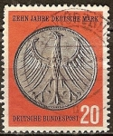 Sellos de Europa - Alemania -  10a Aniv de la Reforma de divisas (Marco aleman).