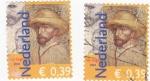 Stamps Netherlands -  Retrato de Van Gogh