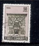 Stamps Turkey -  Madrasa (Escuela) Karatay en la ciudad de Konya (Iconio)