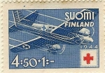 Stamps : Europe : Finland :  Cruz roja- Avión sanitario
