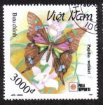 Sellos de Asia - Vietnam -  Papilio Weiskei