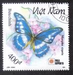Sellos del Mundo : Asia : Vietnam : Morpho Cypris