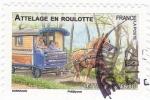 Stamps France -  Remolque a caballo (roulotte)
